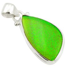 11.26cts multi color sterling opal fancy 925 sterling silver pendant r25256