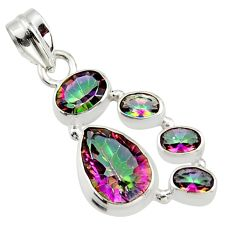 9.62cts multicolor rainbow topaz 925 sterling silver pendant jewelry r43007