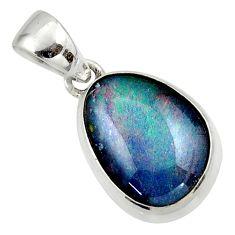 9.68cts natural australian opal triplet 925 silver pendant r42423