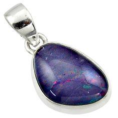 9.98cts natural australian opal triplet 925 silver pendant r42427