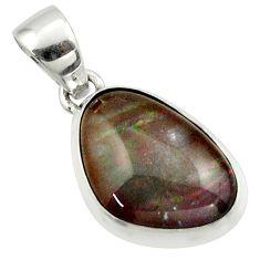 10.22cts natural australian opal triplet 925 silver pendant r42429