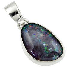 9.22cts natural australian opal triplet 925 silver pendant r42430