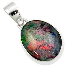 11.23cts natural australian opal triplet 925 silver pendant r42431