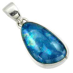 10.01cts natural australian opal triplet 925 silver pendant r42433