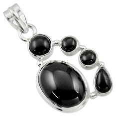 15.02cts natural black onyx 925 sterling silver pendant jewelry r43180