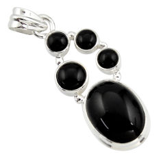 14.83cts natural black onyx 925 sterling silver pendant jewelry r43190