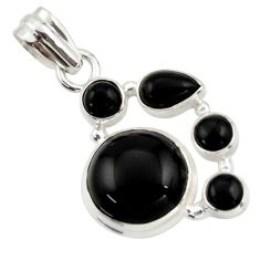 13.40cts natural black onyx 925 sterling silver pendant jewelry r43191