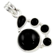 14.17cts natural black onyx 925 sterling silver pendant jewelry r43193
