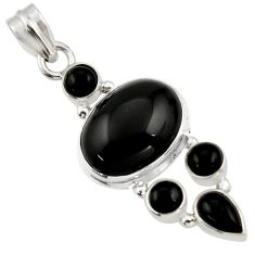 14.45cts natural black onyx 925 sterling silver pendant jewelry r43198