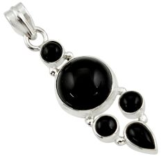 13.49cts natural black onyx 925 sterling silver pendant jewelry r43199
