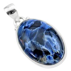 15.65cts natural black pietersite (african) 925 sterling silver pendant t28564