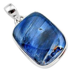 18.20cts natural black pietersite (african) 925 sterling silver pendant t28583