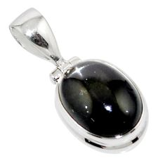 6.11cts natural black star 925 sterling silver pendant jewelry r44460