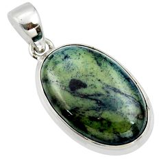 16.20cts natural black vivianite 925 sterling silver pendant jewelry r39982