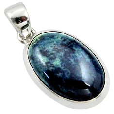 15.65cts natural black vivianite 925 sterling silver pendant jewelry r39991