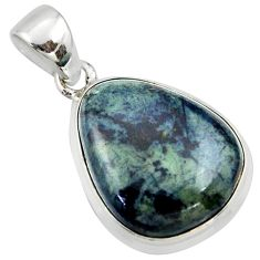 15.65cts natural black vivianite 925 sterling silver pendant jewelry r39992