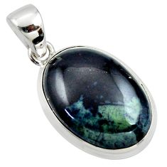 15.65cts natural black vivianite 925 sterling silver pendant jewelry r39994