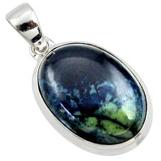 18.15cts natural black vivianite 925 sterling silver pendant jewelry r40004