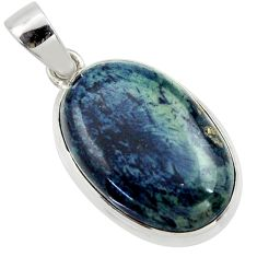 19.23cts natural black vivianite 925 sterling silver pendant jewelry r40007