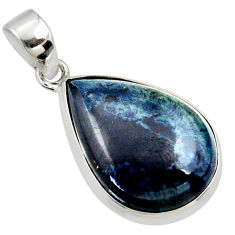16.65cts natural black vivianite 925 sterling silver pendant jewelry r40013