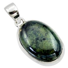 17.60cts natural black vivianite 925 sterling silver pendant jewelry r40014
