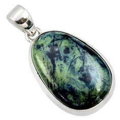 18.15cts natural black vivianite 925 sterling silver pendant jewelry r40018