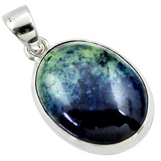 19.12cts natural black vivianite 925 sterling silver pendant jewelry r40020