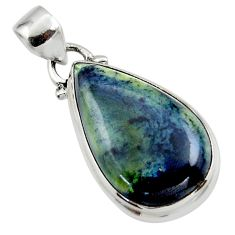 12.15cts natural black vivianite 925 sterling silver pendant jewelry r46241
