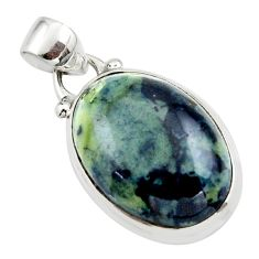 13.15cts natural black vivianite 925 sterling silver pendant jewelry r46242