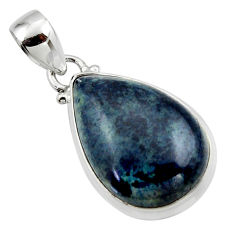 12.85cts natural black vivianite 925 sterling silver pendant jewelry r46251