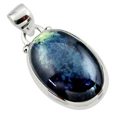 11.92cts natural black vivianite 925 sterling silver pendant jewelry r46253