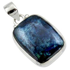14.60cts natural black vivianite 925 sterling silver pendant jewelry r46499