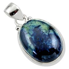 13.40cts natural black vivianite 925 sterling silver pendant jewelry r46500