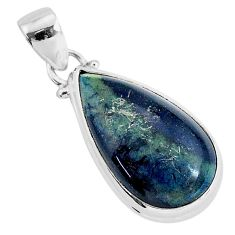 11.73cts natural black vivianite 925 sterling silver pendant jewelry r94252
