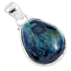 11.17cts natural black vivianite 925 sterling silver pendant jewelry r94257
