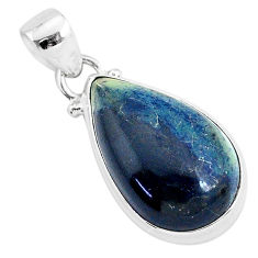 11.20cts natural black vivianite 925 sterling silver pendant jewelry r94258
