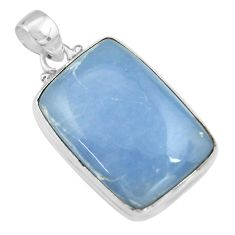 27.08cts natural blue angelite 925 sterling silver pendant jewelry r19627