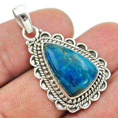9.72cts natural blue apatite (madagascar) 925 sterling silver pendant t53255