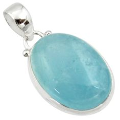16.73cts natural blue aquamarine 925 sterling silver pendant jewelry r39706