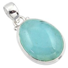 15.08cts natural blue aquamarine 925 sterling silver pendant jewelry r39710
