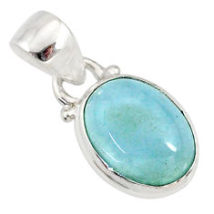 4.54cts natural blue aquamarine 925 sterling silver pendant jewelry r78302