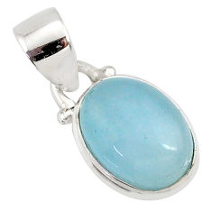 4.50cts natural blue aquamarine 925 sterling silver pendant jewelry r78305