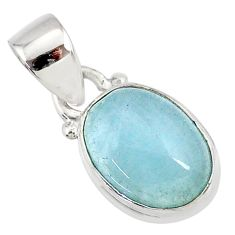 3.84cts natural blue aquamarine 925 sterling silver pendant jewelry r78315