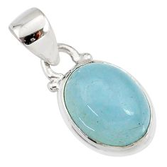 4.91cts natural blue aquamarine 925 sterling silver pendant jewelry r78318