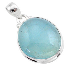 18.68cts natural blue aquamarine 925 sterling silver pendant jewelry t42764