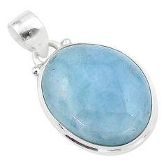 16.55cts natural blue aquamarine 925 sterling silver pendant jewelry t42769