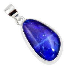 9.83cts natural blue australian opal triplet 925 sterling silver pendant r36199