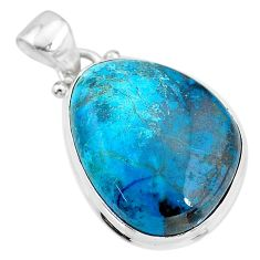 15.08cts natural blue chrysocolla 925 sterling silver pendant jewelry t4134