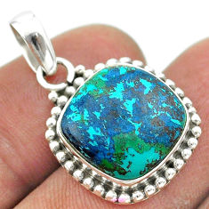 11.23cts natural blue chrysocolla 925 sterling silver pendant jewelry t53423