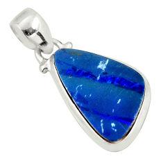 7.97cts natural blue doublet opal australian 925 sterling silver pendant d45861